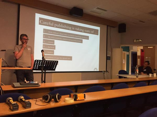 Joe Deville presents at Radical Open Access